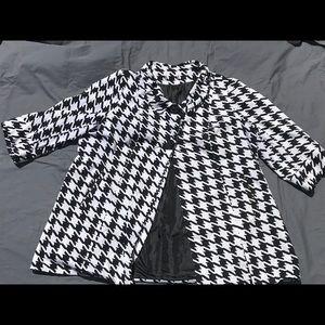 Herringbone print jacket